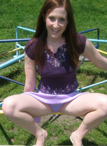 Cute Teen Ruby Flashes Her Tits In The Park - Picture 2