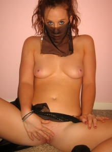 Redhead Teen Removes Her Slutty Belly Dancer Costume To Finger Her Wet Pussy - Picture 9