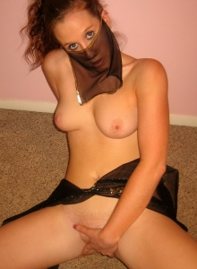 Redhead Teen Removes Her Slutty Belly Dancer Costume To Finger Her Wet Pussy - Picture 11