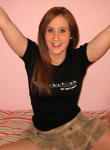 Ruby Loves To Tease As She Strips Out Of Her Masturbation Tshirt And Black Panties - Picture 2
