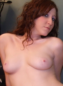 Ginger Teen Ruby Flashes Her Perky Tits As She Strips Naked - Picture 12